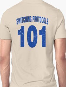 Team shirt - 101 Switching Protocols, blue letters T-Shirt