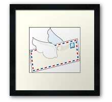 Letter with Wings Framed Print