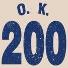 Team shirt - 200 O.K., blue letters by JRon