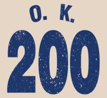 Team shirt - 200 O.K., blue letters by JRon
