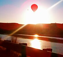 Sun beam, Hot air balloon by gr8erAchilles