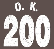 Team shirt - 200 O.K., white letters by JRon