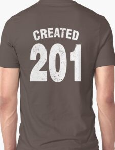 Team shirt - 201 Created, white letters T-Shirt
