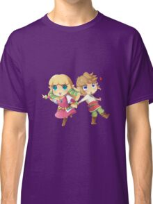 Legend of Zelda Skyward Sword: Chibi Link and Zelda Classic T-Shirt