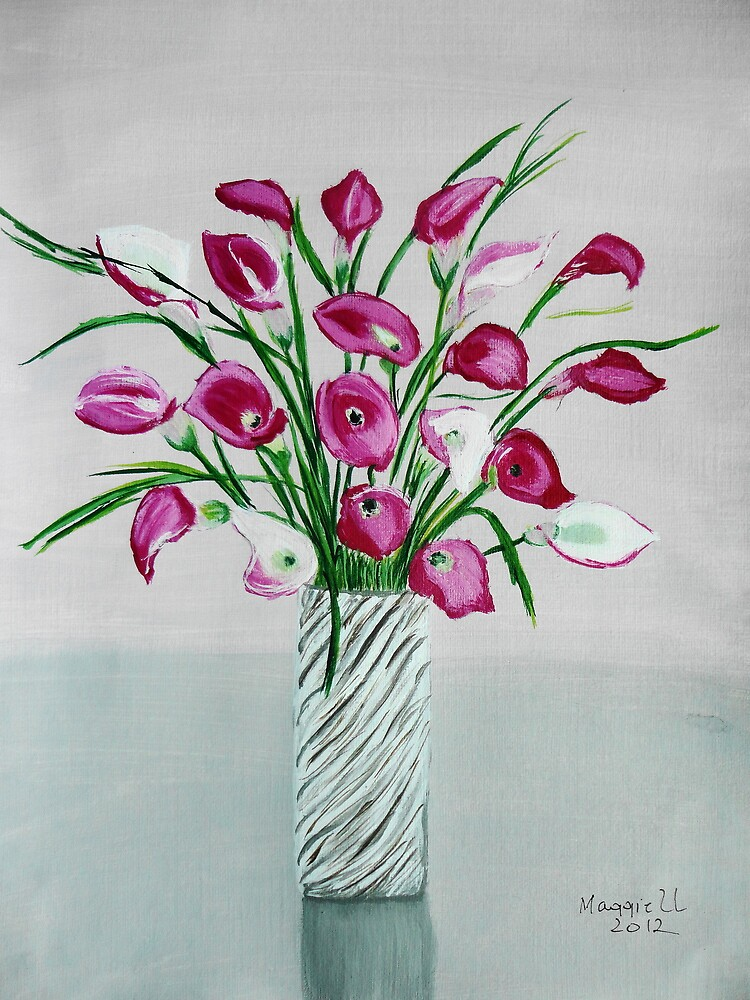 Calla Lilies in Vase by maggie326