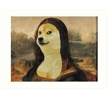 Mona Doge Art Print