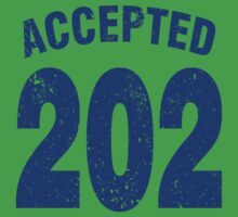 Team shirt - 202 Accepted, blue letters Baby Tee