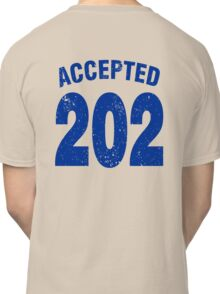 Team shirt - 202 Accepted, blue letters Classic T-Shirt