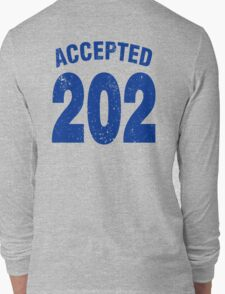 Team shirt - 202 Accepted, blue letters Long Sleeve T-Shirt
