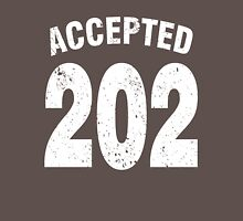 Team shirt - 202 Accepted, white letters Unisex T-Shirt