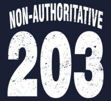 Team shirt - 203 Non-Authoritative, white letters Kids Tee