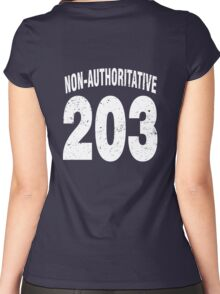Team shirt - 203 Non-Authoritative, white letters Women's Fitted Scoop T-Shirt