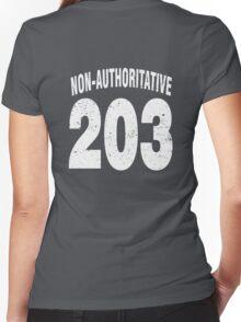 Team shirt - 203 Non-Authoritative, white letters Women's Fitted V-Neck T-Shirt