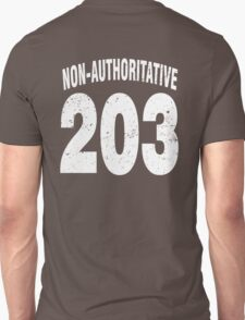 Team shirt - 203 Non-Authoritative, white letters T-Shirt
