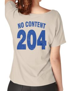 Team shirt - 204 No Content, blue letters Women's Relaxed Fit T-Shirt