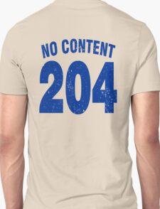 Team shirt - 204 No Content, blue letters T-Shirt