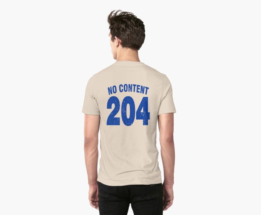 Team shirt - 204 No Content, blue letters by JRon