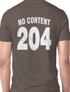 Team shirt - 204 No Content, white letters Unisex T-Shirt