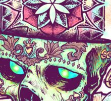 Flower of Life Sugar Skull Sticker