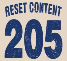 Team shirt - 205 Reset Content, blue letters by JRon