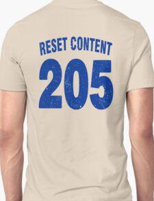 Team shirt - 205 Reset Content, blue letters T-Shirt