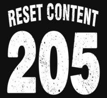 Team shirt - 205 Reset Content, white letters Kids Clothes
