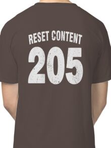 Team shirt - 205 Reset Content, white letters Classic T-Shirt