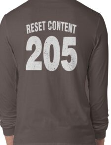 Team shirt - 205 Reset Content, white letters Long Sleeve T-Shirt