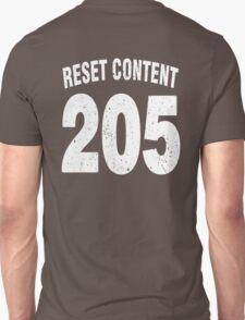 Team shirt - 205 Reset Content, white letters T-Shirt