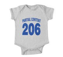 Team shirt - 206 Partial Content, blue letters One Piece - Short Sleeve
