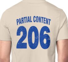 Team shirt - 206 Partial Content, blue letters Unisex T-Shirt