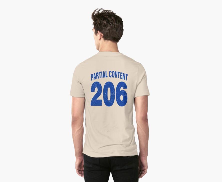 Team shirt - 206 Partial Content, blue letters by JRon
