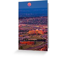 Supermoon Above Golden Greeting Card