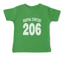 Team shirt - 206 Partial Content, white letters Baby Tee