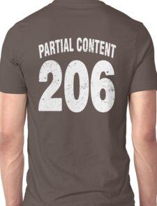 Team shirt - 206 Partial Content, white letters Unisex T-Shirt