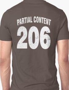 Team shirt - 206 Partial Content, white letters T-Shirt