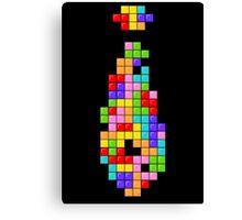 Tetris Tie Canvas Print