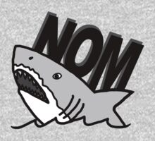 Shark Nom One Piece - Long Sleeve