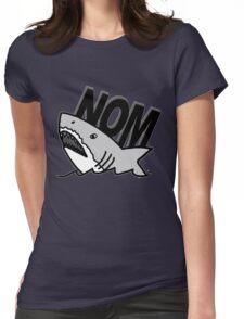Shark Nom Womens Fitted T-Shirt