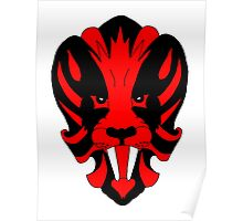 Lion Red Poster