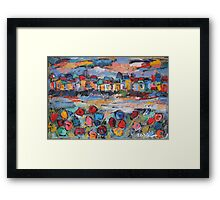 tuscany with flowers Framed Print