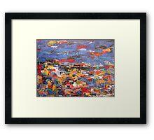 blue riviera Framed Print