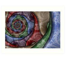 Spiral Pottery Art Print