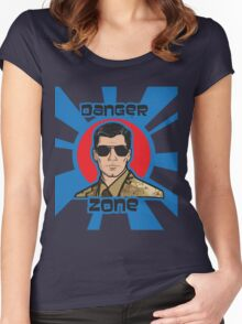 You Better Call Kenny Loggins - Military Uniform Version Women's Fitted Scoop T-Shirt