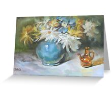 Blue Vase Greeting Card
