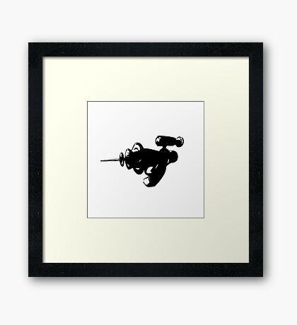 Alien Ray Gun - Black Framed Print
