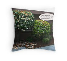 Dang Camellias! Throw Pillow