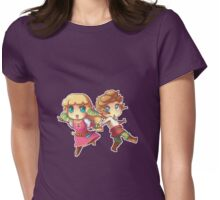 Legend of Zelda Skyward Sword: Chibi Link and Zelda (pixel version) Womens Fitted T-Shirt