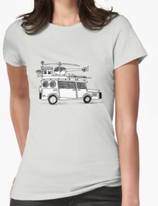 Car sketch Womens Fitted T-Shirt