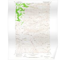 USGS Topo Map Washington State WA Whiskey Dick Mtn 244642 1966 24000 Poster